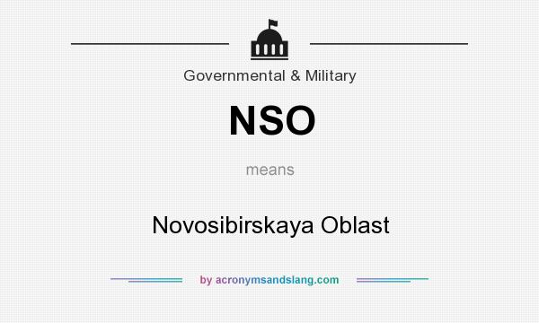 What does NSO mean? It stands for Novosibirskaya Oblast