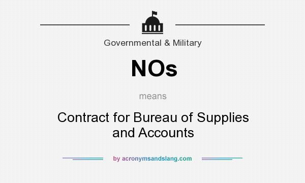 Nos contract for bureau of supplies and accounts in for Bureau meaning