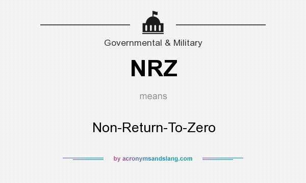 What does NRZ mean? It stands for Non-Return-To-Zero