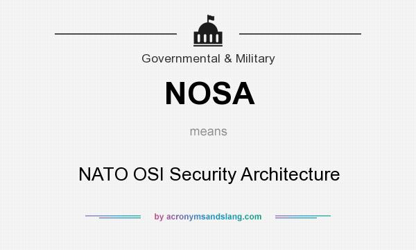 Nosa nato osi security architecture in government for What does architecture mean