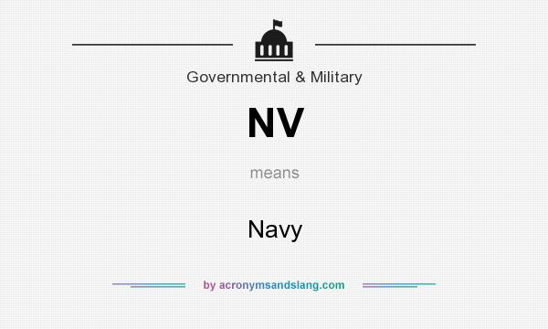 What does NV mean? It stands for Navy