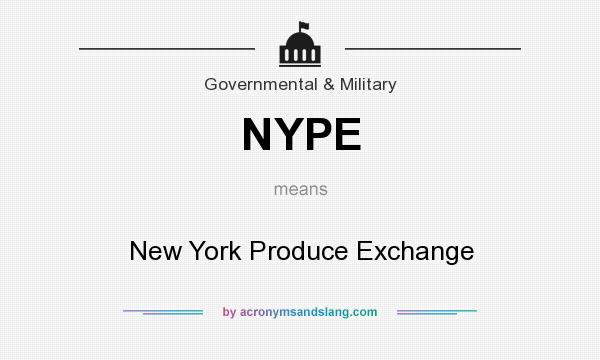 What does NYPE mean? It stands for New York Produce Exchange