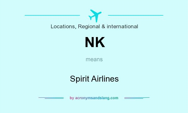 What does NK mean? It stands for Spirit Airlines