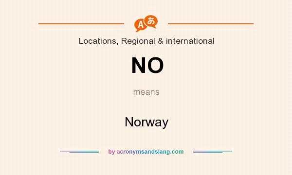 What does NO mean? It stands for Norway