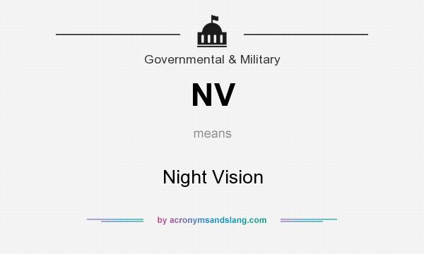 What does NV mean? It stands for Night Vision