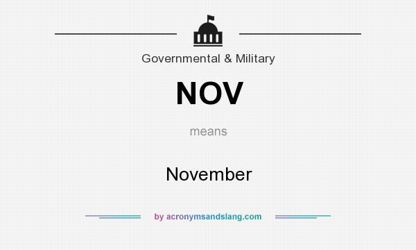 What does NOV mean? It stands for November