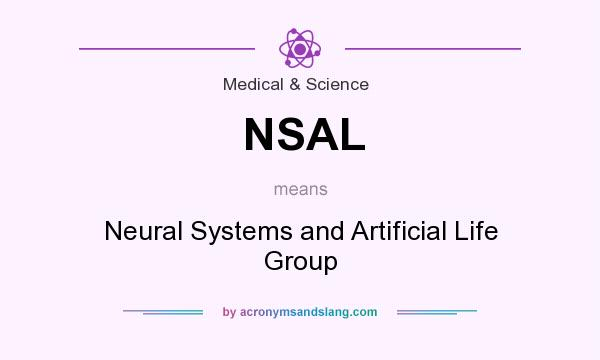 What does NSAL mean? It stands for Neural Systems and Artificial Life Group