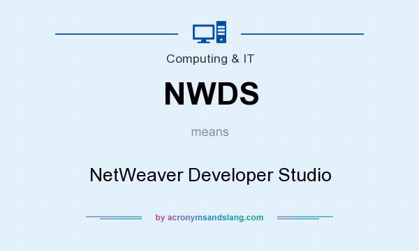 What does NWDS mean? It stands for NetWeaver Developer Studio