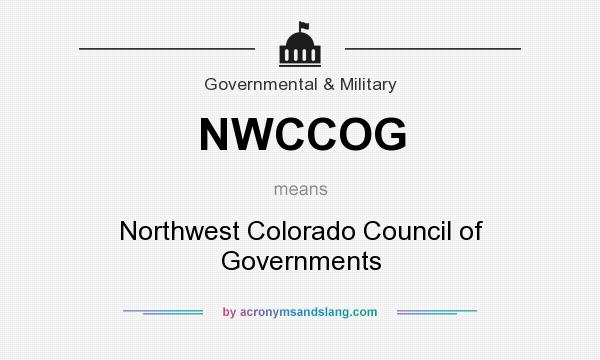 What does NWCCOG mean? It stands for Northwest Colorado Council of Governments