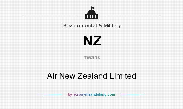 What does NZ mean? It stands for Air New Zealand Limited