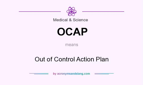 What does OCAP mean? It stands for Out of Control Action Plan