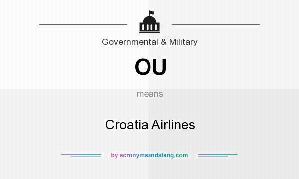 What does OU mean? It stands for Croatia Airlines