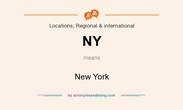 What does NY mean? It stands for New York