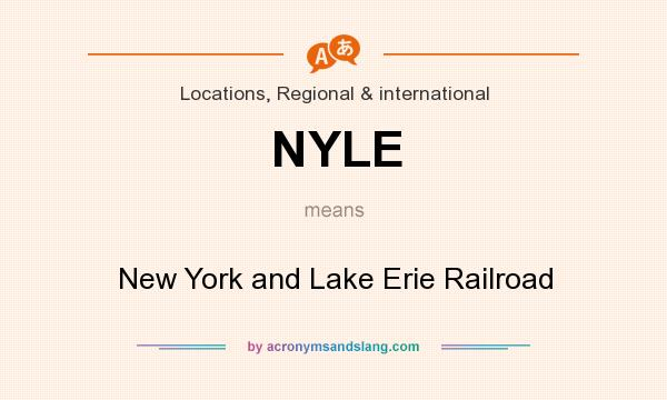 What does NYLE mean? It stands for New York and Lake Erie Railroad