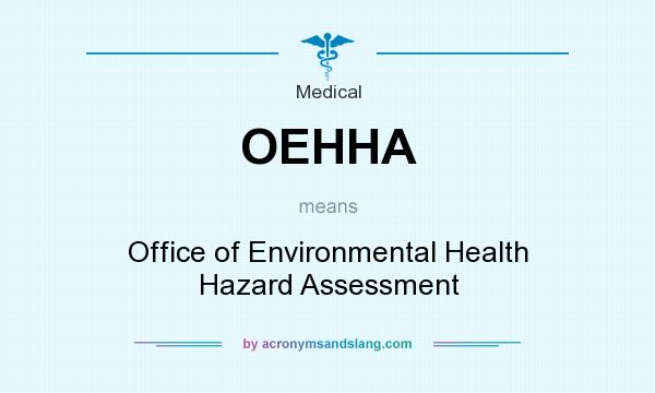 What does OEHHA mean? It stands for Office of Environmental Health Hazard Assessment