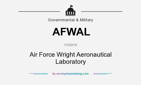 What does AFWAL mean? It stands for Air Force Wright Aeronautical Laboratory