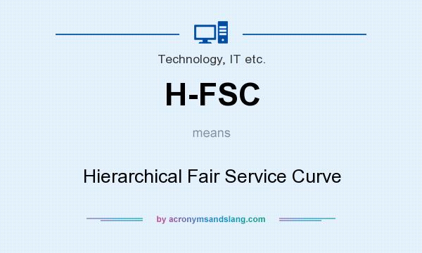 What does H-FSC mean? It stands for Hierarchical Fair Service Curve