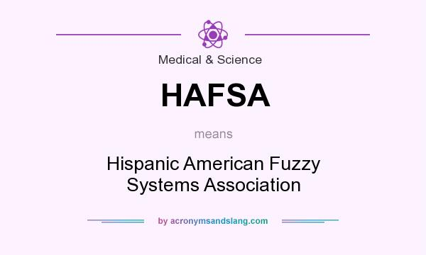 What does HAFSA mean? It stands for Hispanic American Fuzzy Systems Association