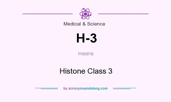 What does H-3 mean? It stands for Histone Class 3