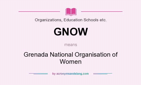 What does GNOW mean? It stands for Grenada National Organisation of Women