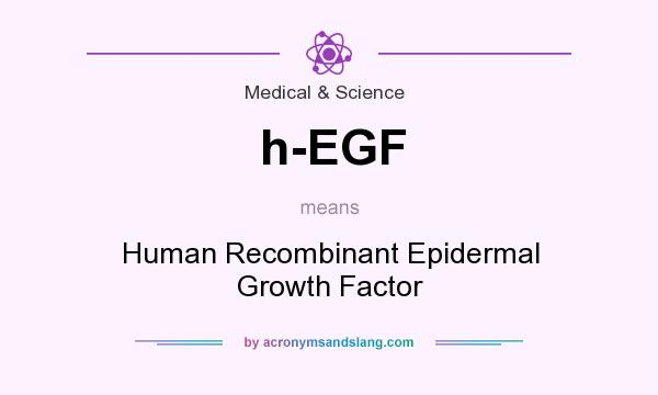 What does h-EGF mean? It stands for Human Recombinant Epidermal Growth Factor