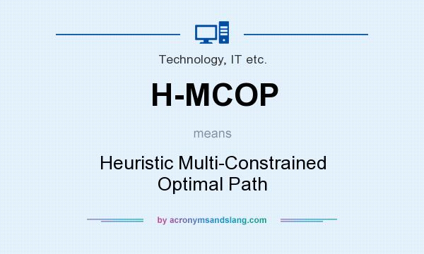 What does H-MCOP mean? It stands for Heuristic Multi-Constrained Optimal Path