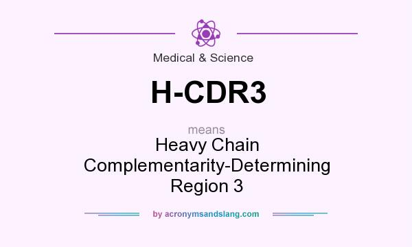 What does H-CDR3 mean? It stands for Heavy Chain Complementarity-Determining Region 3