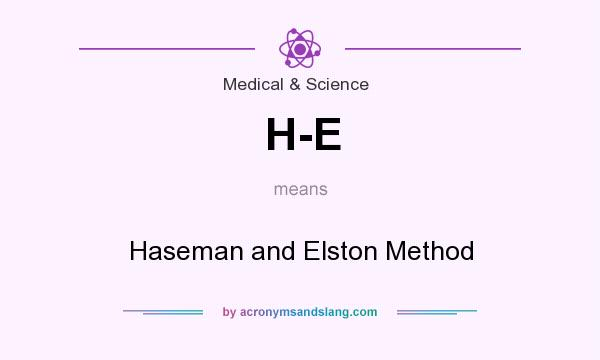 What does H-E mean? It stands for Haseman and Elston Method