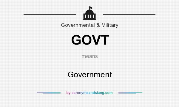 What does GOVT mean? It stands for Government