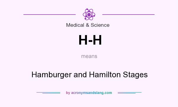 What does H-H mean? It stands for Hamburger and Hamilton Stages