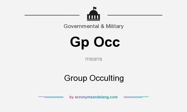 What does Gp Occ mean? It stands for Group Occulting