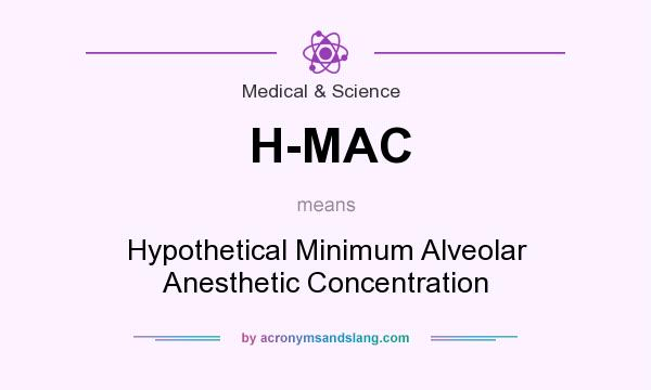What does H-MAC mean? It stands for Hypothetical Minimum Alveolar Anesthetic Concentration