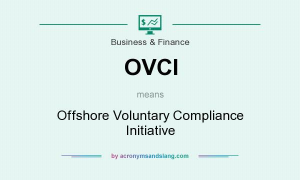 What does OVCI mean? It stands for Offshore Voluntary Compliance Initiative