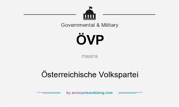 What does ÖVP mean? It stands for Österreichische Volkspartei