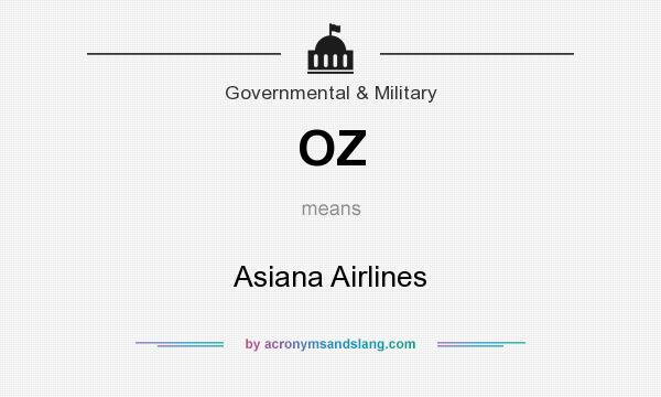 What does OZ mean? It stands for Asiana Airlines