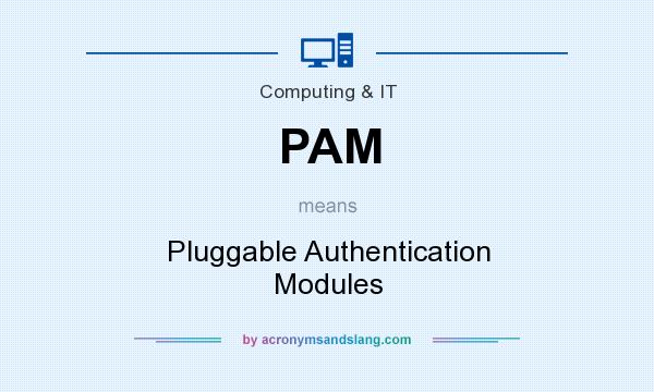 What does PAM mean? It stands for Pluggable Authentication Modules
