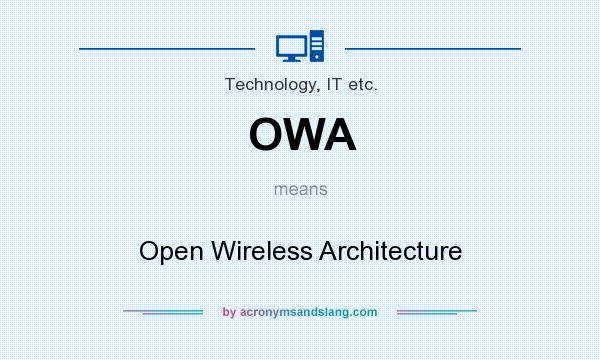 Owa open wireless architecture in technology it etc by for What does architecture mean
