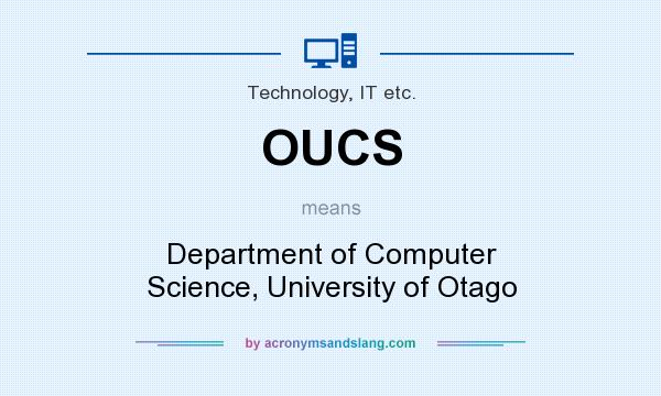 What does OUCS mean? It stands for Department of Computer Science, University of Otago