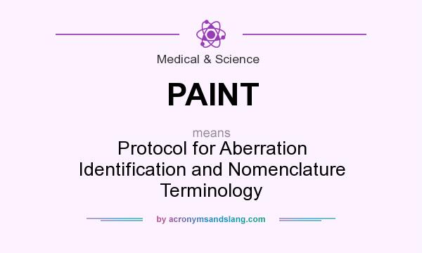 What does PAINT mean? It stands for Protocol for Aberration Identification and Nomenclature Terminology