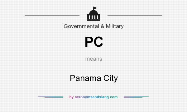 What does PC mean? It stands for Panama City