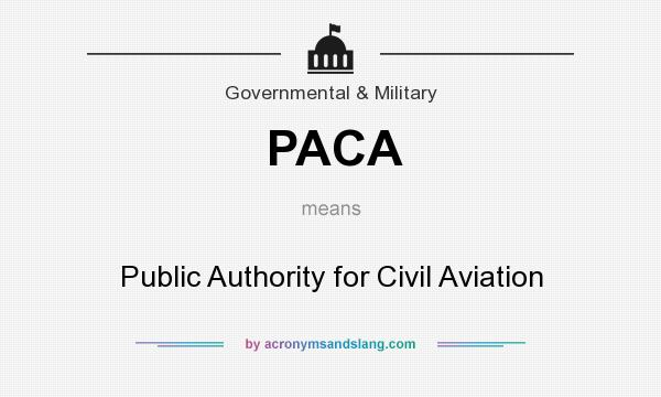 What does PACA mean? It stands for Public Authority for Civil Aviation