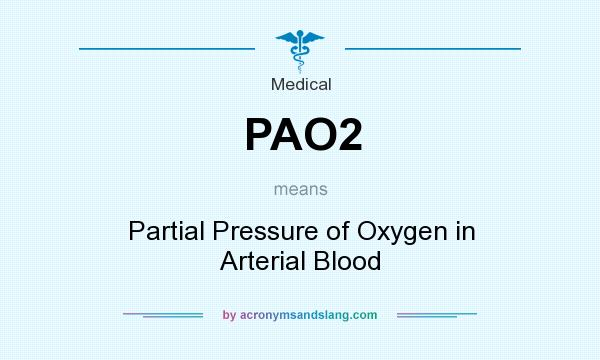 What does PAO2 mean? It stands for Partial Pressure of Oxygen in Arterial Blood