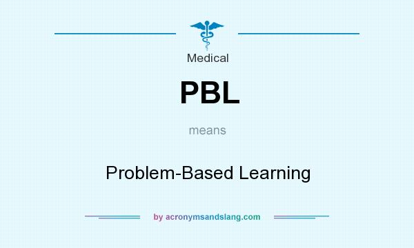 What does PBL mean? It stands for Problem-Based Learning