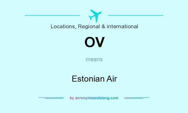 What does OV mean? It stands for Estonian Air