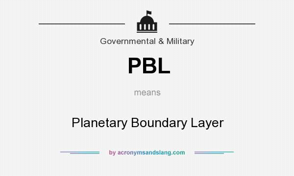 What does PBL mean? It stands for Planetary Boundary Layer