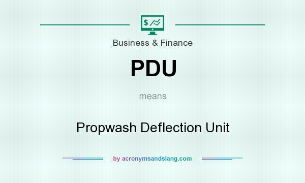 What does PDU mean? It stands for Propwash Deflection Unit