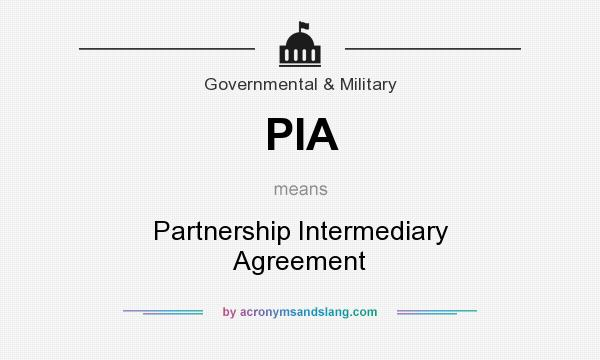 Pia Partnership Intermediary Agreement In Government Military By