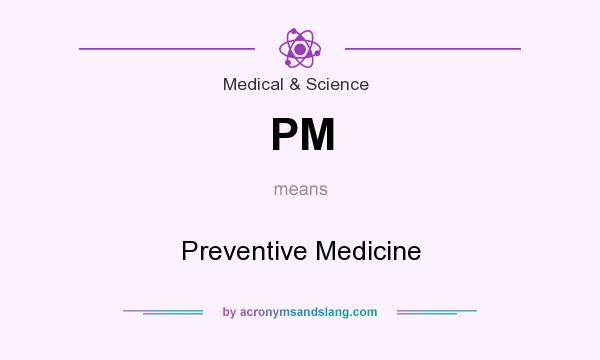 What does PM mean? It stands for Preventive Medicine