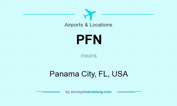What does PFN mean? It stands for Panama City, FL, USA