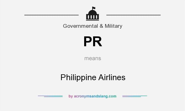 What does PR mean? It stands for Philippine Airlines